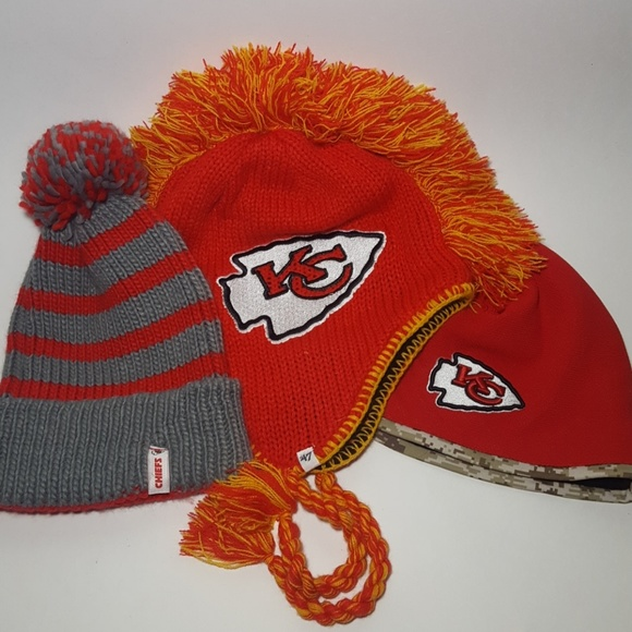 Kansas City Chiefs Beanie Winter Hat Lot Of 3. M 5b6d2e17de6f621cd1207f22 2f7a2ea92351
